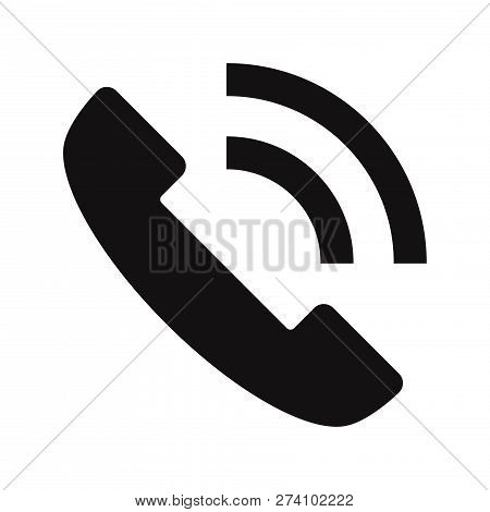 Telephone Call Icon Isolated On White Background. Telephone Call Icon In Trendy Design Style. Teleph