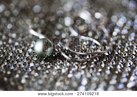 Close Up Macro Shooting Expensive Pearl For Gift