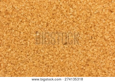 Full Frame Closeup Of Demerara Sugar Grains
