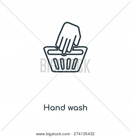 Hand Wash Icon In Trendy Design Style. Hand Wash Icon Isolated On White Background. Hand Wash Vector