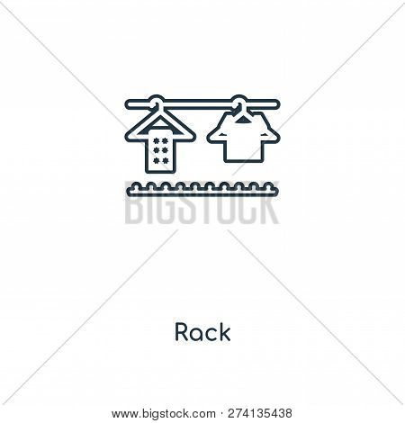 Rack Icon In Trendy Design Style. Rack Icon Isolated On White Background. Rack Vector Icon Simple An