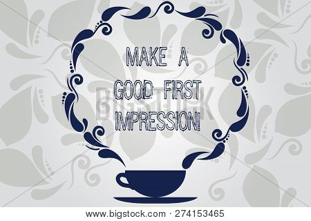 Conceptual Hand Writing Showing Make A Good First Impression. Business Photo Showcasing Introduce Yo