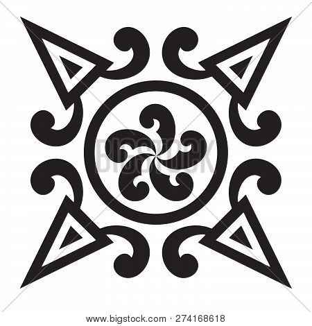 Ethnic Tattoo And Design Abstract Combination Black Ring Circle With White Background Tattoo Ethnic
