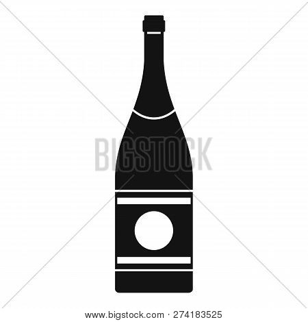 Elite Champagne Icon. Simple Illustration Of Elite Champagne Vector Icon For Web Design Isolated On