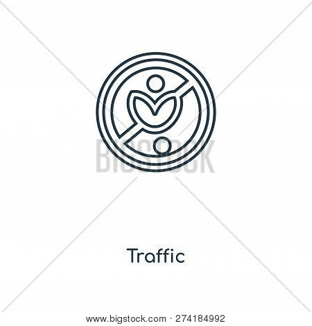 Traffic Sign Icon In Trendy Design Style. Traffic Sign Icon Isolated On White Background. Traffic Si