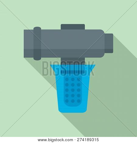 Hard Water Filtering Icon. Flat Illustration Of Hard Water Filtering Vector Icon For Web Design
