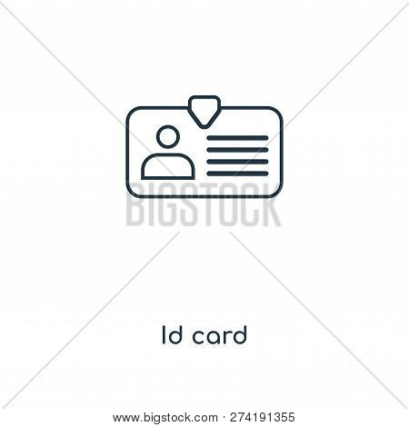 Id Card Icon In Trendy Design Style. Id Card Icon Isolated On White Background. Id Card Vector Icon