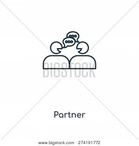 Partner Icon In Trendy Design Style. Partner Icon Isolated On White Background. Partner Vector Icon