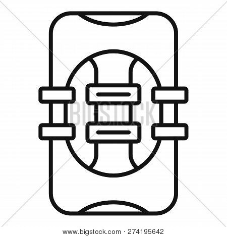 Rescue Vest Icon. Outline Rescue Vest Vector Icon For Web Design Isolated On White Background