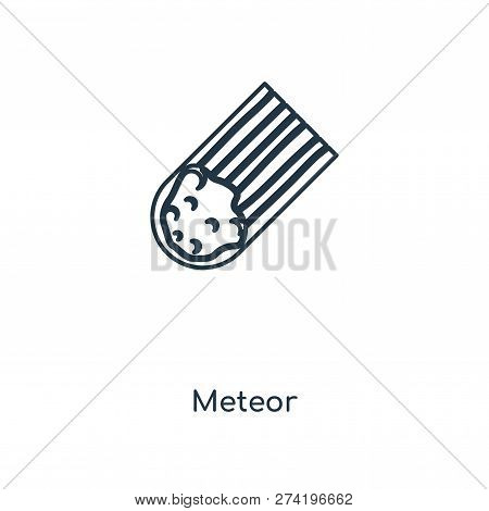 Meteor Icon In Trendy Design Style. Meteor Icon Isolated On White Background. Meteor Vector Icon Sim