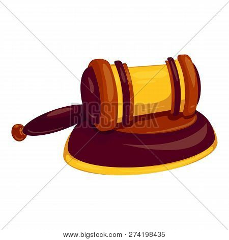 Bang Decision Gavel Icon. Cartoon Of Bang Decision Gavel Vector Icon For Web Design Isolated On Whit