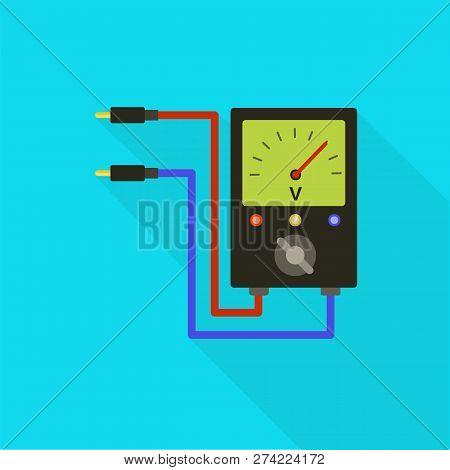 Volt Meter Icon. Flat Illustration Of Volt Meter Vector Icon For Web Design