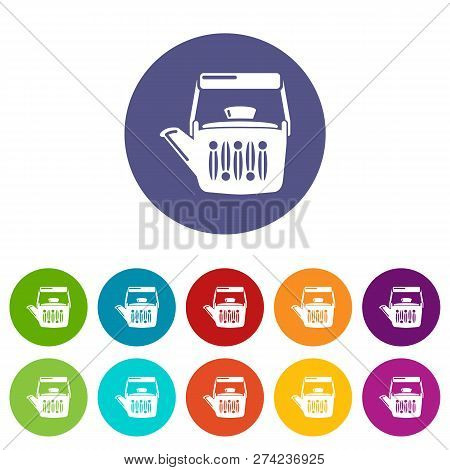 Teatime Icons Color Set Vector For Any Web Design On White Background