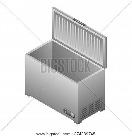 Deep Freezer Icon. Isometric Of Deep Freezer Vector Icon For Web Design Isolated On White Background
