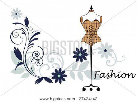 Couture fashion bodyform and flourish