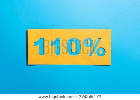 Giving Your Best 110 Percent Blue Background Words As Motivation