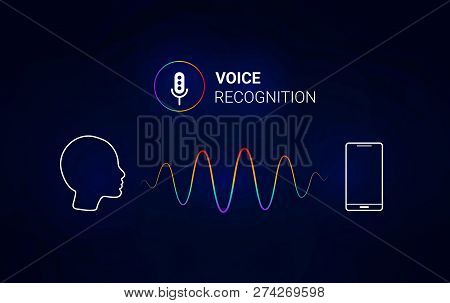 Personal Assistant. Voice Recognition. Smart Sound Technologies. Microphone  With Voice And Sound. V