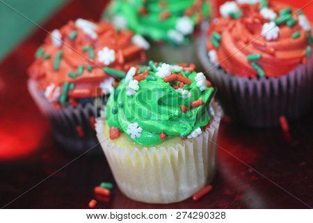 Holiday Cupcakes Closeup