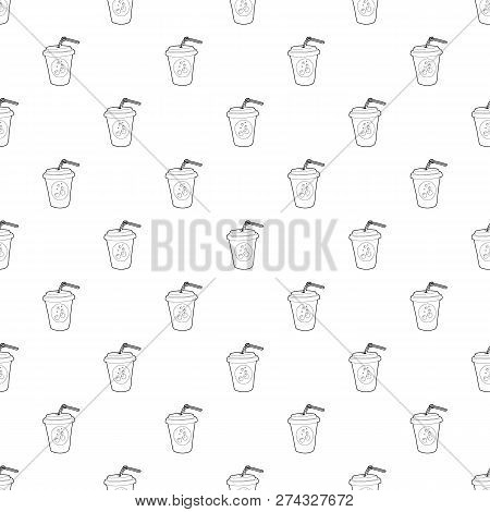 Plastic Cup Of Limonade Icon. Outline Illustration Of Plastic Cup Of Limonade Icon For Web Design