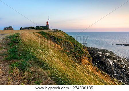 Atlantic Coastline By The Sunset.