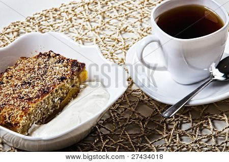 Cake And Tea On The Table