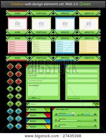 Creative web design elements set. Vector illustration