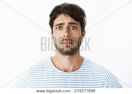 Guy Feeling Uneasy Looking Reckless And Desperate At Life Falling Appart Standing Intense And Sad Li