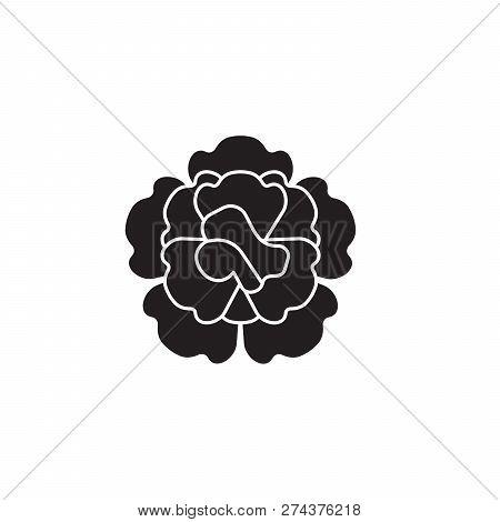 Carnation Black Vector Concept Icon. Carnation Flat Illustration, Sign