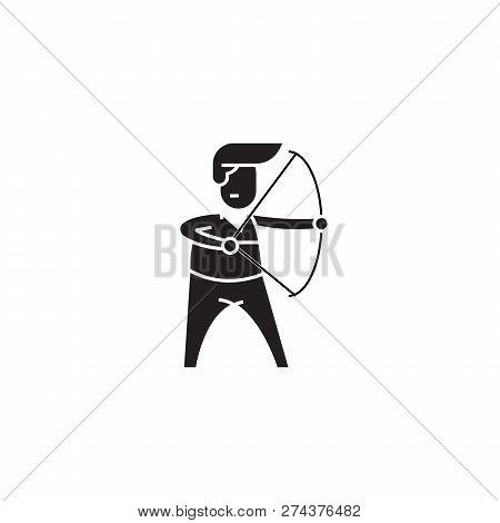 Chairman Black Vector Concept Icon. Chairman Flat Illustration, Sign
