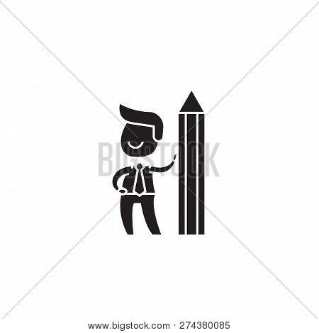 Creative Director Black Vector Concept Icon. Creative Director Flat Illustration, Sign