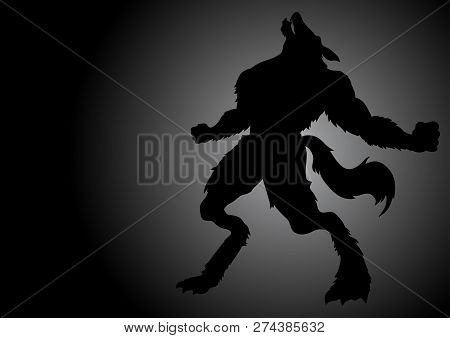 Stock Vector Of A Werewolf Howling In The Dark Night