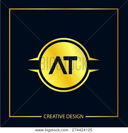 Initial Letter At Logo Template Vector Design