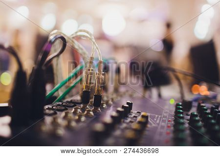 Professional Sound Engineering Console With Buttons To Control The Quality And Sound Level.