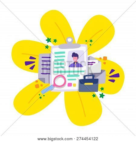 Employment Agency Assists Job Seekers In Finding Work. Contingency Employment Agency. Cartoon Vector