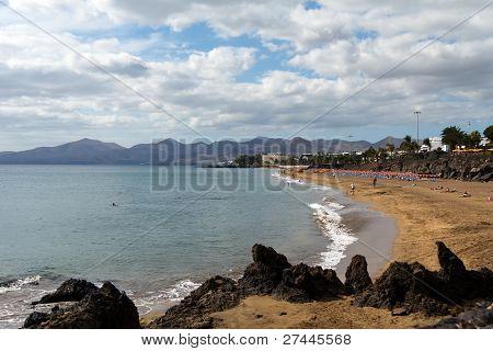 Playa Puerto del Carmen , Beach ,Lanzarote ,Spain