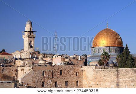 Mosque And Minaret In East Jerusalem, Israel