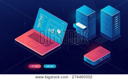 Laptop Pc Data Vector & Photo (Free Trial) | Bigstock
