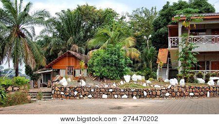 Akosombo, Ghana - August 07,2013: West African Countries. Ghana. Beautiful Recreational Area In Volt