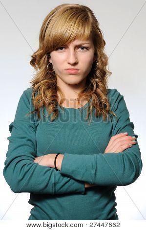 Pouting Teen Girl