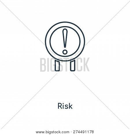 Risk Icon In Trendy Design Style. Risk Icon Isolated On White Background. Risk Vector Icon Simple An