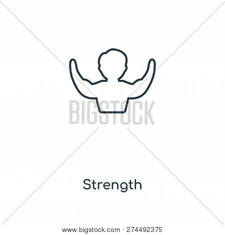 Strength Icon In Trendy Design Style. Strength Icon Isolated On White Background. Strength Vector Ic