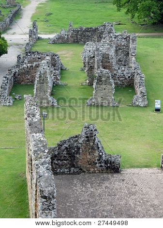 Panama La Vieja, old Spanish Bishop's house ruins