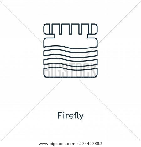 Firefly Icon In Trendy Design Style. Firefly Icon Isolated On White Background. Firefly Vector Icon