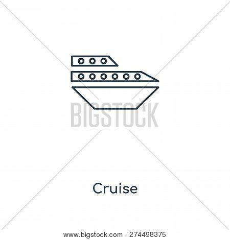 Cruise Icon In Trendy Design Style. Cruise Icon Isolated On White Background. Cruise Vector Icon Sim