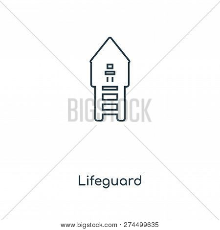Lifeguard Icon In Trendy Design Style. Lifeguard Icon Isolated On White Background. Lifeguard Vector