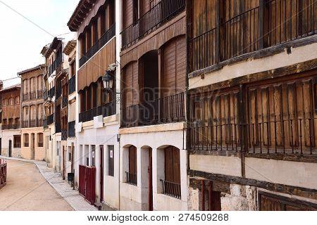 Detial Of El Coso Square Of Penafiel, Valladolid Province, Castilla-leon, Spain