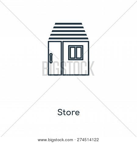 Store Icon In Trendy Design Style. Store Icon Isolated On White Background. Store Vector Icon Simple