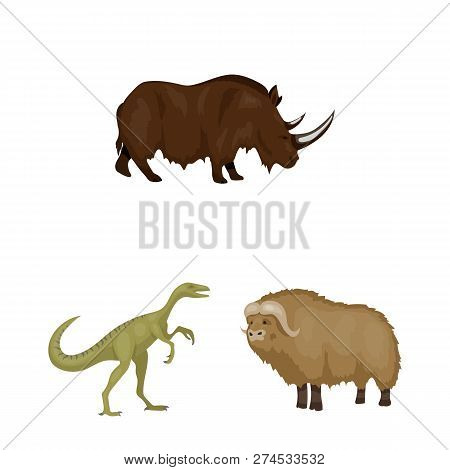 Vector Illustration Of Animal And Character Symbol. Set Of Animal And Ancient  Stock Vector Illustra