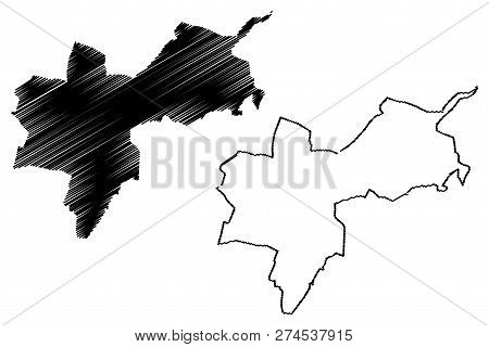 Basel-stadt (cantons Of Switzerland, Swiss Cantons, Swiss Confederation) Map Vector Illustration, Sc