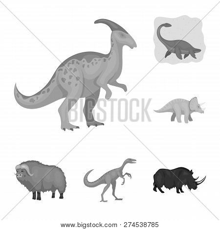 Isolated Object Of Animal And Character Sign. Set Of Animal And Ancient  Stock Symbol For Web.